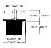 Turn Tite Expandable Rubber Plug - Schematic